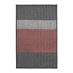 LYNDERUP door mat, grey, red
