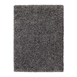 VINDUM rug, high pile, dark grey