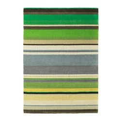 STOCKHOLM rug, low pile, green handmade green