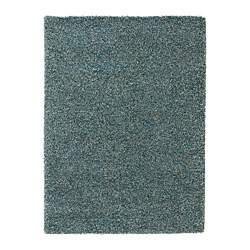 VINDUM rug, high pile, blue-green blue