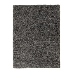 VINDUM rug, high pile, dark gray