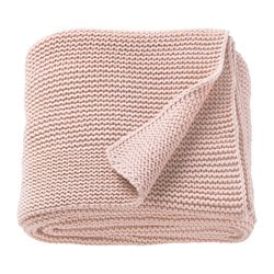 INGABRITTA throw, pale pink