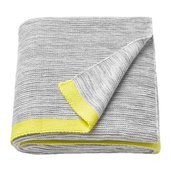 LISAMARI throw, light grey, yellow