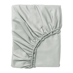 NATTJASMIN fitted sheet, light grey
