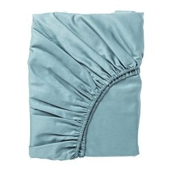 NATTJASMIN fitted sheet, blue