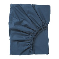 ULLVIDE fitted sheet, dark blue