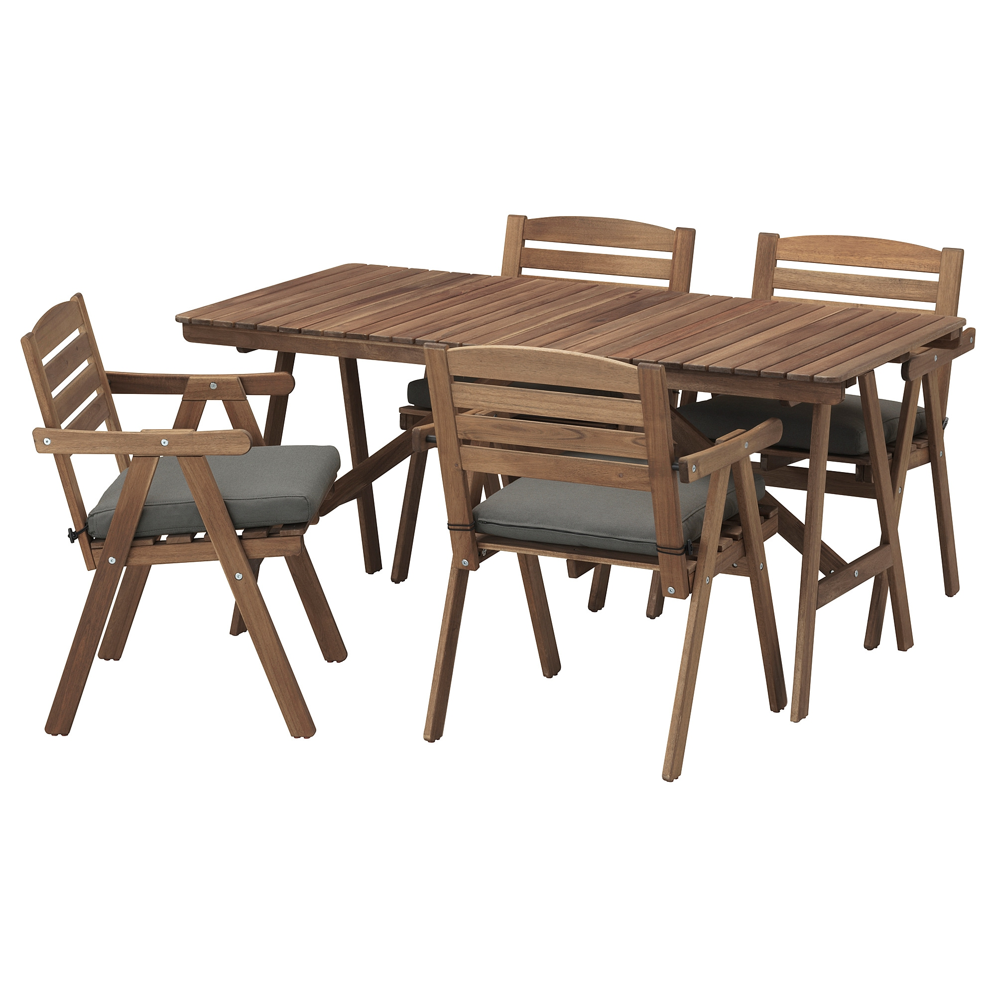 IKEA FALHOLMEN Table+4 Chairs W Armrests, Outdoor
