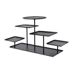 SAMMANHANG, Display stand, black