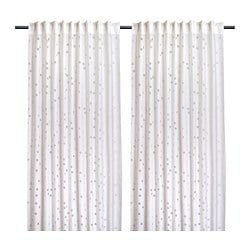 MYRTENTRY sheer curtains, 1 pair, white