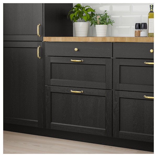Lerhyttan Drawer Front Black Stained