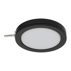 OMLOPP LED spotlight, black