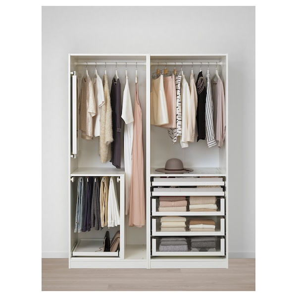 Wardrobe Pax White Hokksund High Gloss Light Beige
