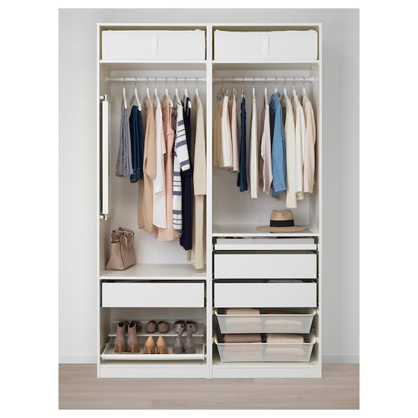 brand new b56ce e5569 PAX Wardrobe, white, Uggdal gray glass