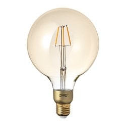 LUNNOM, LED bulb E26 400 lumen, dimmable, globe brown clear glass