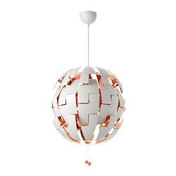 IKEA PS 2014 pendant lamp, white, copper-colour