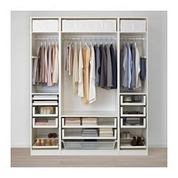 PAX armoire-penderie, blanc