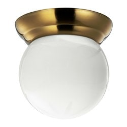 LILLHOLMEN ceiling/wall lamp, brass-colour