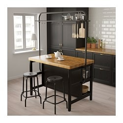 Vadholma Kitchen Island With Rack Ikea