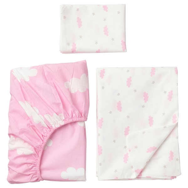 Funda Nordica Ikea 90.Himmelsk 3 Piece Bedlinen Set For Cot Pink Ikea