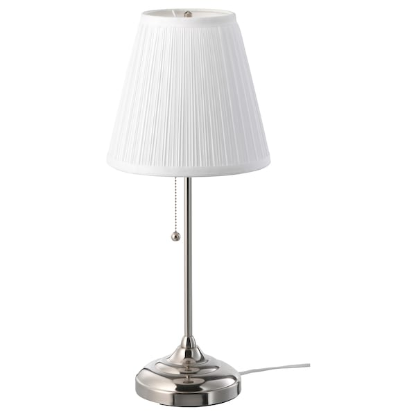 Ikea Lampe De Table.Table Lamp Arstid Nickel Plated White