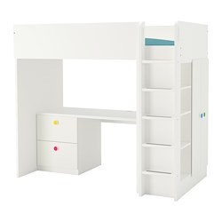 STUVA / FÖLJA loft bed combo w 2 drawer/2 doors, white