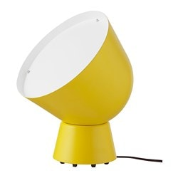 IKEA PS 2017, Table lamp with LED bulb, yellow