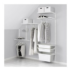 ALGOT wall upright/shelves/box, white