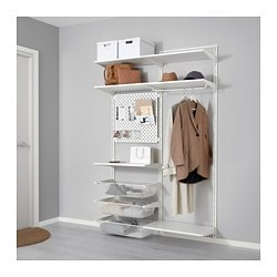 ALGOT / SKÅDIS Wall upright/shelves/rod