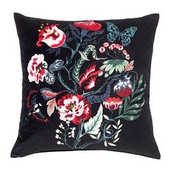 SARALENA cushion, black, multicolour