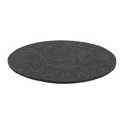 ODDBJÖRG chair pad, grey