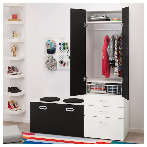 stuva fritids schrank mit banktruhe wei. Black Bedroom Furniture Sets. Home Design Ideas