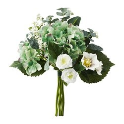 SMYCKA artificial bouquet, white