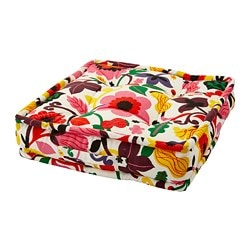 URSPRUNGLIG floor cushion, floral patterned