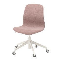 LÅNGFJÄLL office chair, Gunnared light brown-pink, white