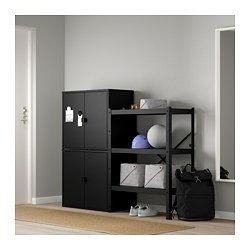 BROR shelving unit with cabinets