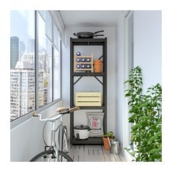 BROR shelving unit, black