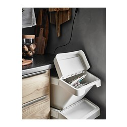 SORTERA Recycling bin with lid white  sc 1 st  Ikea & SORTERA Recycling bin with lid - IKEA