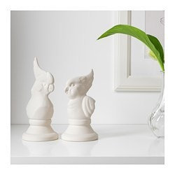 SKILLNAD, Decoration, set of 2, birds, white