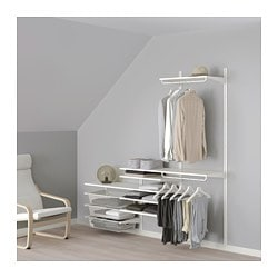 ALGOT, Wall upright, shelf and basket
