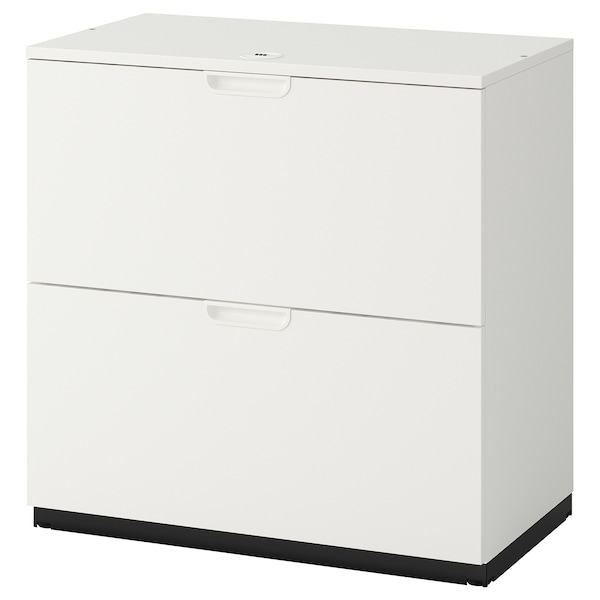 Drawer unit with drop-file storage GALANT white