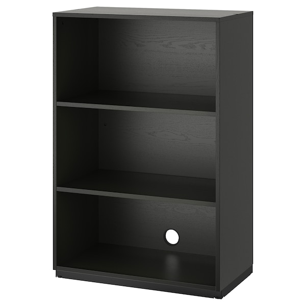 cheap for discount 8561a 73d07 Shelf unit GALANT black stained ash veneer