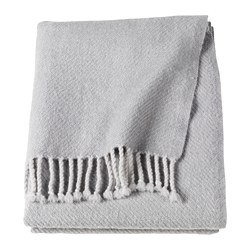 OMTÄNKSAM throw, light grey
