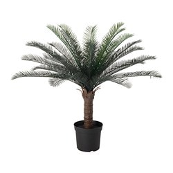 FEJKA, Artificial potted plant, indoor/outdoor sago palm