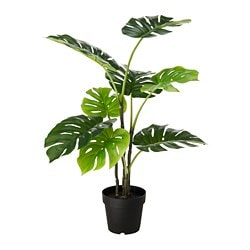 FEJKA artificial potted plant, indoor/outdoor monstera