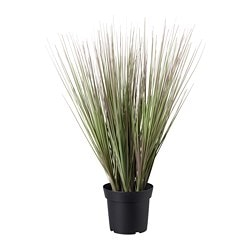 FEJKA artificial potted plant, indoor/outdoor grass