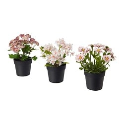 FEJKA artificial potted plant, indoor/outdoor pink