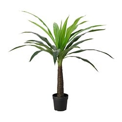FEJKA artificial potted plant, indoor/outdoor palm