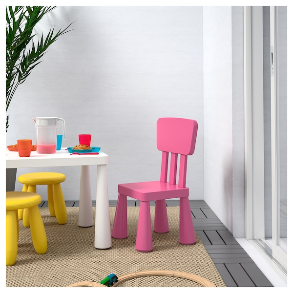 mammut kinderstuhl drinnen drau en rosa ikea. Black Bedroom Furniture Sets. Home Design Ideas