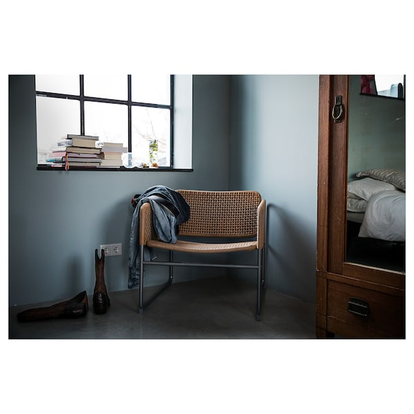 Industriell Armchair Natural Grey Ikea