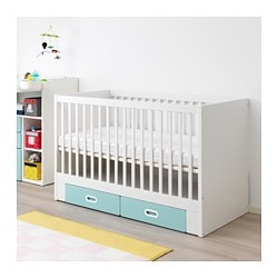AuBergewohnlich STUVA / FRITIDS Cot With Drawers, Light Blue. IKEA FAMILY Price